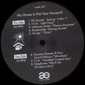 VA - My House Is Not Your House III [Acido]